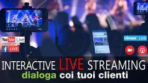 transmisión en vivo live streaming YouTube, Facebook